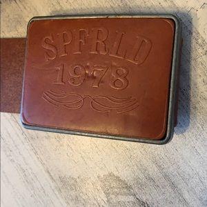 Springfield men's Leather belt 95/38